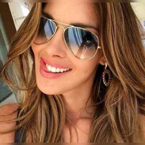 Óculos De Sol Feminino Aviador 3025 3026 Degradê Masculino