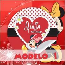 Minnie Vermelha Rótulos Personalizados Vários Modelos Festa
