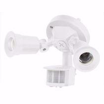 Luminario Sensor Movimiento 2 Focos Exterior Lampara 46480