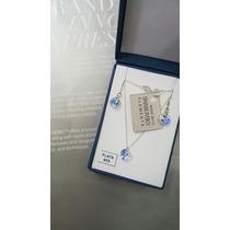 Oferta:conjunto Mini Puntos De Luz Cristales Swarovski Plata