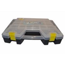 Organizador Doble 15 Tipo Valija 2 Cierres Plastica Goldex