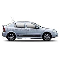 Kit Adesivo Astra Faixa Lateral Hatch Sedan Acessórios Gm