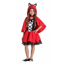 Fantasia Chapeuzinho Vermelho Infantil Completa De Luxo