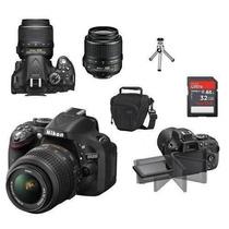 Camera Digital Nikon D5200+lente 18-55mm+32gb+bolsa+tripé