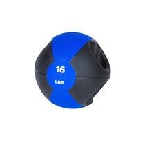 Pelota Medicinal Con Agarraderas De 16 Lbs Power Fitness Gym