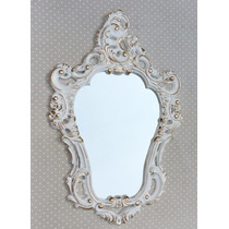 Moldura Estilo Veneziana Já Com Espelho Ouro Provençal