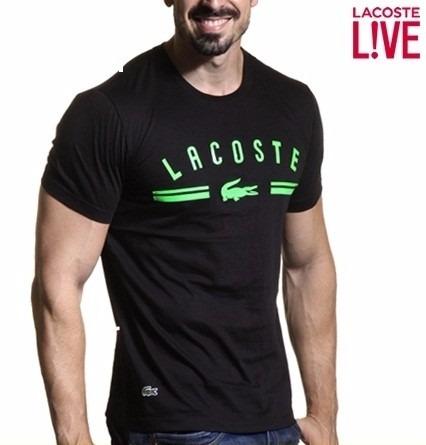 Camiseta Lacoste Live Masculina Original Polo Camiseta Aj - R  107 ... 0b1ad35c53