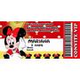 Minnie Vermelha 30 Convite Personalizado Ingresso Cineminha