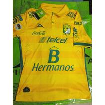 Jersey Playera León 2015-2016 Visita Amarillo Pirma