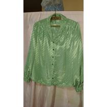 Original Blusa Dama De Seda Fina Terminación