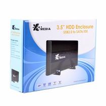 Gabinete Para Disco Duro 3.5 X-media Sata Externo Usb 2.0