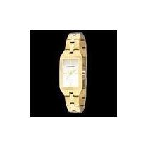 Relógio Technos Feminino Quadrado 5y30xm/4b Dourado Wr 50m /