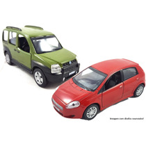 Miniaturas Metal Carros Do Brasil Fiat Punto + Doblo Br26