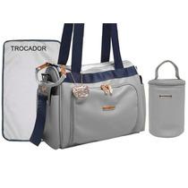 Kit Bolsa Maternidade Tigor Gde E Frasq.+ Trocador
