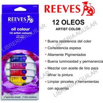 12 Oleos En Pomo Pintura Artística Reeves