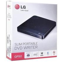 Drive Lg Gravador Dvd E Cd Externo Usb 2.0 Gp50nb40 Preto