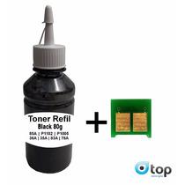10 Refil Toner + Chip 85a 78a 35a 36a 83a Pó Recarga