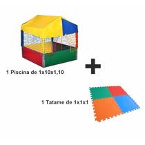 Piscina De Bolinha 1,10x1,10 + Tatames!preço De Fabrica! Top