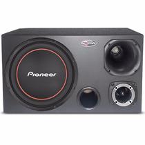 Caixa Trio Som Sub Pioneer 300w + Corneta 120w Rms Completa