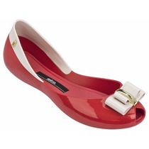 Melissa Queen V 2 Laços Ad S:vermelho/bege 31818