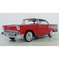 Auto De Coleccion Escala 1:24 Motor Max Chevy Bel Air 1957