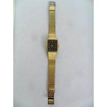 Relógio De Pulso Marca Seiko Antigo Quartz Japan R Dourado