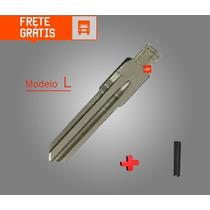 Lâmina P/ Chave Canivete Gm Celta Prisma Astra Meriva + Pino