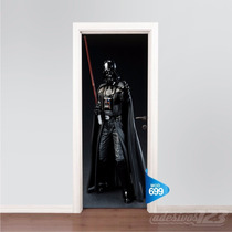 Adesivo 123 Porta Cinema Star Wars Darth Vader Mod 699