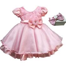Vestido Infantil Luxo Princesa Gatinha Marie E Tiara
