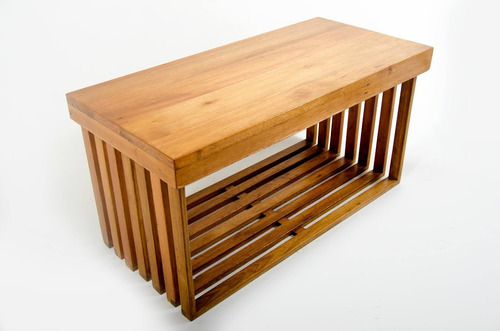 Vanitory colgante en madera maciza minimalista 30x90 4 for Mueble bano 80x40