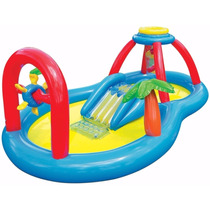 Piscina C/ Escorregador Playcenter Playground Inflável Intex