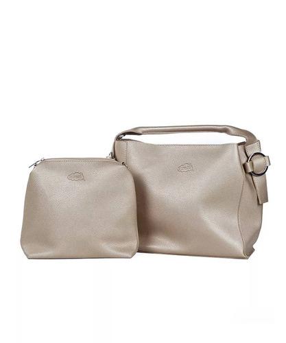 350f964a1 Bolsa De Mão Hoop Dourada Oumai - R$ 169,90 em Mercado Livre