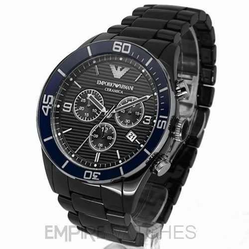 092c5af7ab4 Relógio Masculino Emporio Armani Ar1429 Cerâmica Preto Am159 - R  400