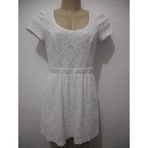 Vestido Branco Curto Renda Tam M Nitrogen Usado Bom Estado