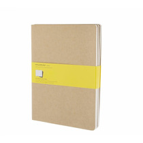 Caderno Moleskine Cahier Extra G Kraft Quadriculado 5052 C/3