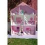 Casas De Muñecas Barbie C/ Dos Escaleras, Puerta Y Muebles,
