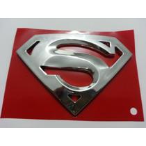 Emblema S- Superman Super Man Cromado Universal Automotivo