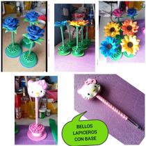 Foami Bellos Lapiceros Decorados C/base P/toda Ocasion