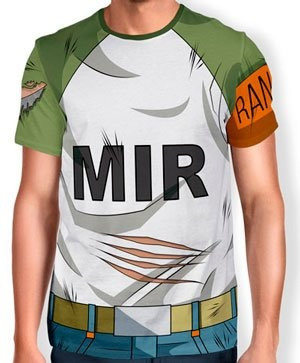 8d28bbbd9 Camisas Camisetas Animes Uniforme 3d Android 17 Dragon Ball - R  69 ...