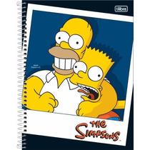 Kit C/2 Cadernos 1 Matéria The Simpsons C/96 Fls - Tilibra