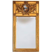 Espelho Estilo Clássico Antigo Moldura Dourada