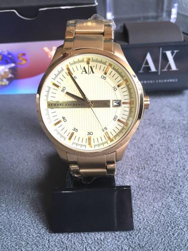 766ab175278 Relogio Armani Exchange Ax2131 Dourado 100%original Completo - R  549