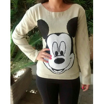 Blusa Do Mickey De Tricô