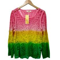 Blusa Tie Dye Hippie Vintage Feminina Chic Boho
