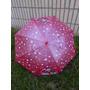 Paraguas Sombrilla Impermeable Para Niños Tipo Baston Rojo