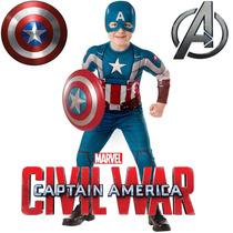 Disfraces Musculosos Capitan America Importados Originales