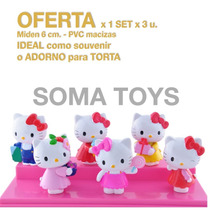 Adorno Torta Hello Kitty Cumpleaños Souvenir Baby Shower ***