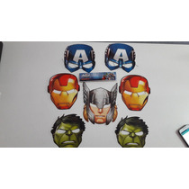 10 Globos Forma Superheroes+7 Mascaras Marvel De Regalo