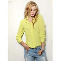 Camisa Promoção Blusa Chifon Fashion Imp. Pronta Entrega