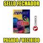 Sello Fechador Pagado / Recibido 35*50mm ( Incluye Iva )